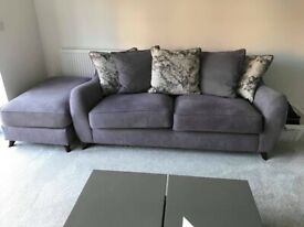 Basically new sofa and foot stool