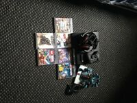 PS3 games head set and controller