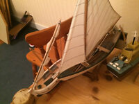 very detailed wooden boats of various sizes