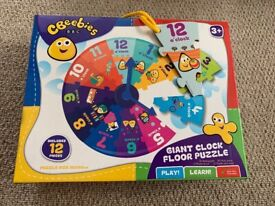 CBeebies Giant Clock Floor Puzzle- new in box