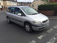 7 seats Diesel Vauxhall zafira 2005 ,long mot & tow bar , ideal for a family, px welcome