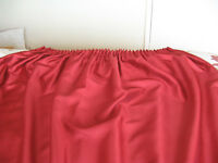 Red Curtains, 3 Pairs, Pencil Pleat, Polyester, Lined, 167cm by 183cm