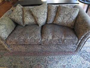 Two Seater Sofa with five matching cushions - Elegant style Greenwich Lane Cove Area Preview