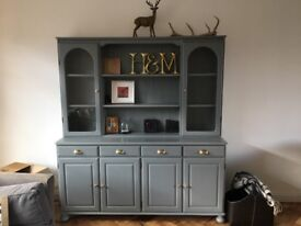 Ducal dresser painted in grey chalk paint