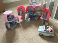 Huge collection of tatty teddy blue nose friend heart house lamp car figures Christmas presents
