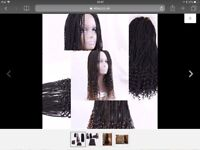 """Curly Senegalese crochet hair extension. 20"""" 28 Roots"""