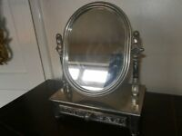 pewter table top mirror