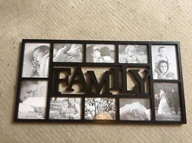 Multiple photo picture frame