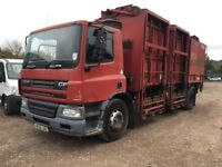 DAF CF65 TIPPING BIN LIFT TRUCK 2005, 220 HP LOVELY TRUCK JUST OUT OF TEST ALL OFFERS CONSIDERED!