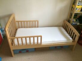 Anna junior and toddler bed by John Lewis. Great condition first child's bed, plus mattress & duvet.