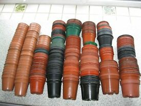 300 Assorted Plastic Plant Pots