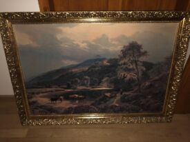 "Framed print of painting ""After the Storm"""
