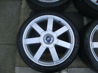 """ford focus mondeo transit connect 18"""" alloy wheels 5stud all good tyres"""