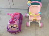 Baby pram Walker & princess ride on