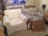 Ikea identical arm chairs. Brand- EKTORP. 2 sets of covers each