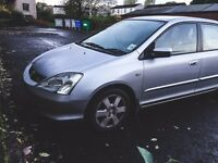 Honda CIVIC 2.0 - £1,250 ono - Clean MOT - 4dr - Family car