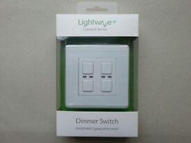 Brand New & Sealed - Lightwave RF Wireless 2 Gang Dimmer White LW420 WH