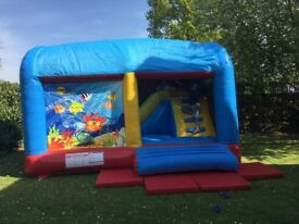Duplay Ocean World Climb and Slide 16ft Commercial Bouncy Castle 1019