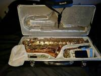 J. Erich Alto Saxophone - With Hard Case and Neotech Strap.