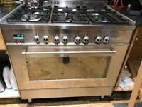 professional 6 hobs gas with big oven