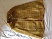 Vintage 1960s Welsh wool tapestry woman's coat / cape