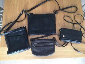 4 x Leather handbags