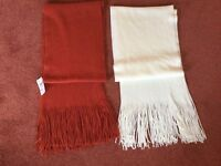 Beautiful, Very Soft and Warm Marks and Spencer Scarves - New with Tags £3 each or 2 for £5