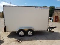 Box trailer twin wheel braked excellent trailer approx size 12ft x 6 ft