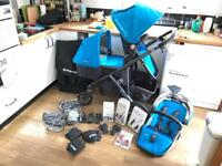 Uppa baby Vista single or double pram (includes everything) in Georgie Blue