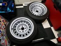 "Mk2 Golf 14"" banded 8.5j wheels"