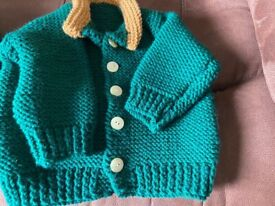 Lovely hand knitted baby's cardigan s