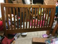 Solid Pine King Size Sleigh Bed