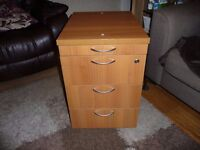MAHOGANY EFFECT FILING CABINET FOUR DRAWER