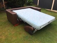 Italian leather sofa bed bed settee excellent condition can deliver