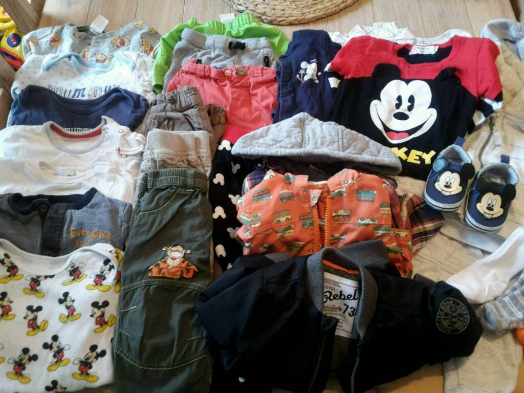 MASSIVE BABY BOY CLOTHES BUNDLE 6-12MONTHS