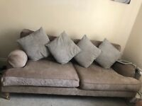 2x 3 seater sofas for sale in champagne