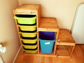 IKEA WOODEN STORAGE UNIT