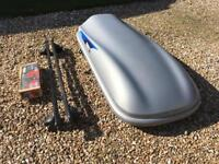 Roof Box Thule Evolution 100 plus bars and all keys - very good condition