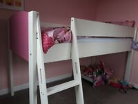 Girls mid sleeper bed frame