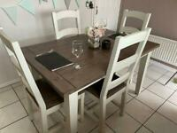 Casa Cotswold Dining Table & Chairs - 4-6 Seater Extending Table