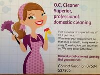 OC Cleaner - established, trustworthy and reliable cleaner. Get the job done that you dont like!!