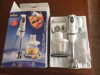 Braun Professional Hand Blender and Accessories + Boxed with Instructions