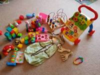 Baby toys and nappy tidy for 8 months +