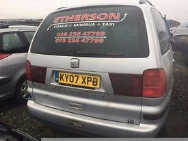 2007 Seat alhambra, 2.0 diesel, breaking for parts only, all parts available