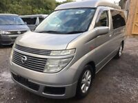 2003 NISSAN ELGRAND NEW FULL SIDE CONVERSION 4 BERTH POP TOP CAMPERVAN 3.5 V6