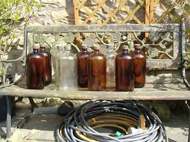 9 x LARGE MEDICAL BOTTLES FOR THE THEATER OR HOME DECORATION