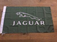 Jaguar E type F type XJS XK V12 workshop flag banner