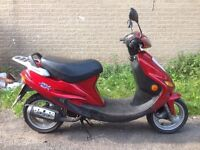 kymco super fever 2 50cc 2 stroke cash or swaps sold as seen
