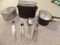 a ww2 german army style canteen and cutlery set