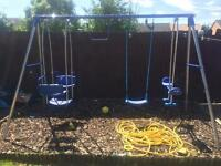 Kids garden swing set